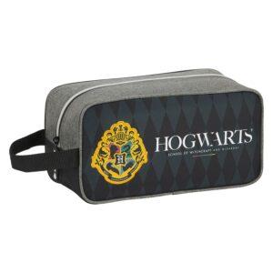 Bolsa para Sapatos de Viagem Hogwarts Harry Potter Preto Cinzento