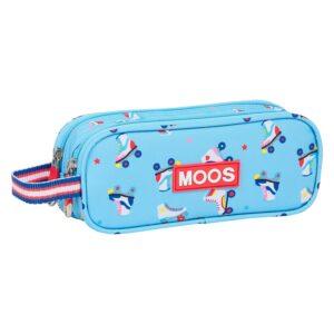 Suporte duplo Tote Holder Rollers Moos Azul Claro