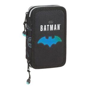 Estojo Triplo Batman Bat-Tech Preto (28 pcs)