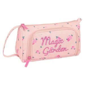 Estojo Magic Garden Safta Cor de Rosa (32 Peças)