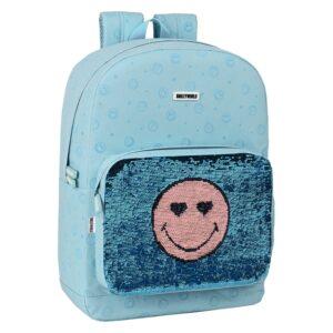 Mochila Escolar Smiley Little Dreamer Azul Claro