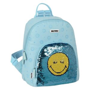 Mochila Casual Smiley Little Dreamer Azul Claro