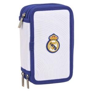 Estojo Triplo Real Madrid C.F. Azul Branco (36 Peças)