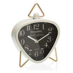 Relógio Tafelklok Branco Metal (5,5 x 23 x 18,5 cm)