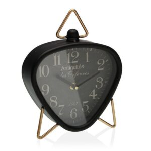 Relógio Tafelklok Preto Metal (5,5 x 23 x 18,5 cm)