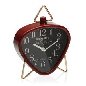 Relógio Tafelklok Vermelho Metal (5,5 x 23 x 18,5 cm)