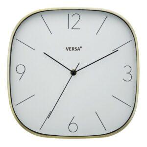 Relógio de Parede Dourado Alumínio (4,3 x 29 x 29 cm)