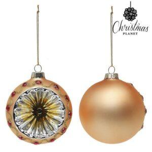 Bolas de Natal 1730 8 cm (2 uds) Cristal Dourado