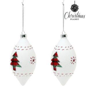 Bolas de Natal 1990 (2 uds) Cristal Branco
