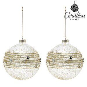 Bolas de Natal 2386 10 cm (2 uds) Cristal Dourado