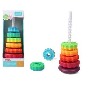 Jogo de Construção Rainbow Tower (41 x 15 cm)