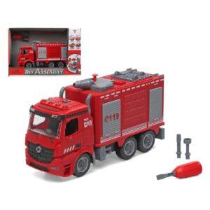 Camião de bombeiros com luz e som Diy Assembly (37 x 25 cm)