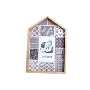 Moldura de Fotos DKD Home Decor Madeira Tecido Oriental (9 x 13 x 13 cm) (18 x 26 x 2.5 cm)