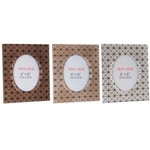 3 Molduras de Fotos DKD Home Decor Geométrico Madeira (15 x 20 x 20 cm)