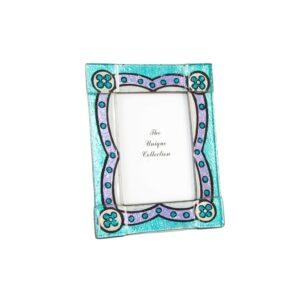 Moldura de Fotos DKD Home Decor Cristal Árabe Azulejo (20 x 2 x 25 cm)