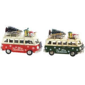 2 Veículos DKD Home Decor Decoração Natal Carrinha (2 pcs) (17 x 7 x 10.5 cm)