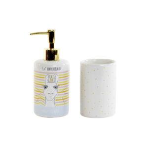 Conjunto de Banho DKD Home Decor Cerâmica ABS Chama (2 pcs)