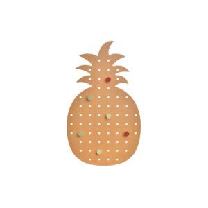 Bengaleiro DKD Home Decor Laranja Madeira Abacaxi (21.5 x 1 x 37.5 cm)