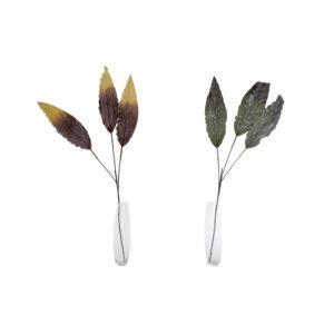 2 Ramalhetes DKD Home Decor Verde Cor de Rosa EVA (Acetato Vinílico Etileno)