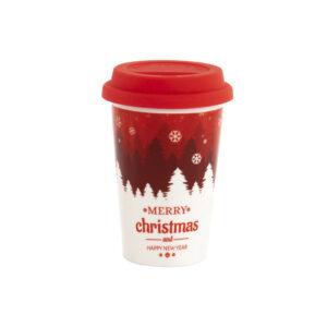 Caneca DKD Home Decor Vermelho Silicone Porcelana (400 ml)