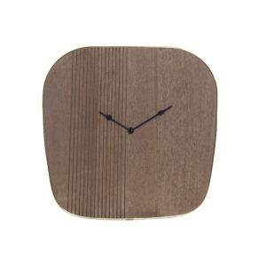 Relógio de Parede DKD Home Decor Castanho Madeira Metal Dourado (39 x 3.5 x 38 cm)