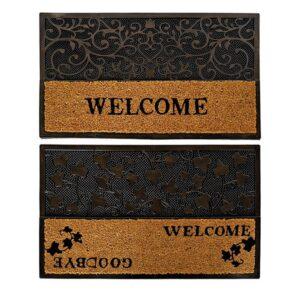 2 Tapetes DKD Home Decor Borracha (75 x 45 x 1.5 cm)
