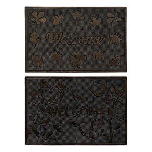 2 Tapetes DKD Home Decor Borracha (60 x 40 x 1 cm)