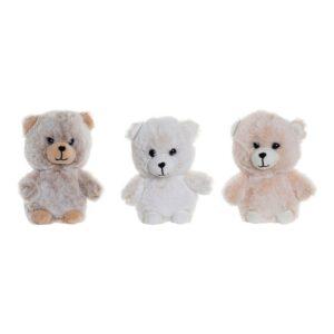 3 Peluche DKD Home Decor Poliéster Urso (12 x 8 x 14 cm)