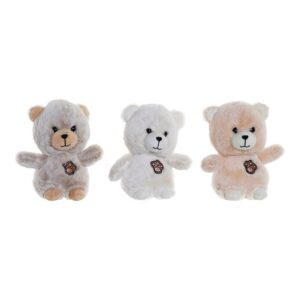 3 Peluches DKD Home Decor Poliéster Urso (15 x 10 x 18 cm)