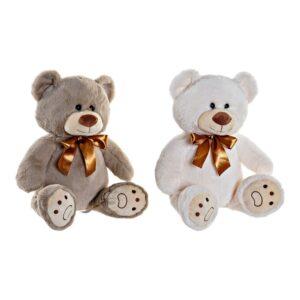 2 Peluches DKD Home Decor Poliéster Urso (2 pcs) (34 x 18 x 36 cm)