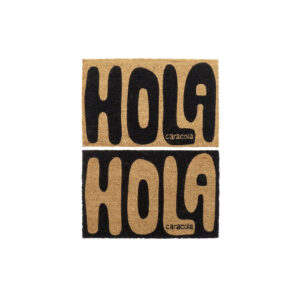 2 Tapetes DKD Home Decor Hola Caracola PVC Fibra (60 x 40 x 1.5 cm)