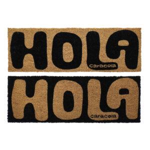 2 Tapetes DKD Home Decor Hola Caracola PVC Fibra (75 x 25 x 1.5 cm)