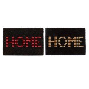 2 Tapetes DKD Home Decor Home Preto Cinzento Borracha Fibra (60 x 40 x 2 cm)