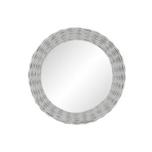 Espelho de parede DKD Home Decor vime Cristal (63 x 4 x 63 cm)