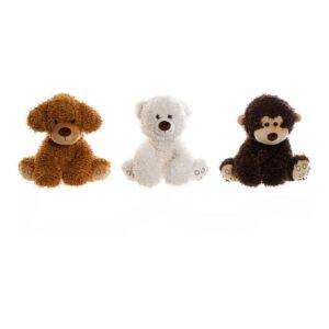 3 Peluches DKD Home Decor animais Poliéster (26 x 24 x 32 cm)