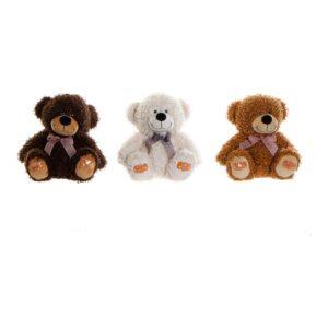 3 Peluches DKD Home Decor Castanho Bege Poliéster Catanho escuro Urso (24 x 24 x 26 cm)
