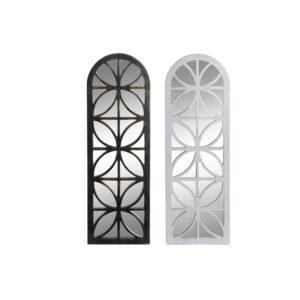 Espelho de parede DKD Home Decor Cristal Polipropileno (PP) (2 pcs) (30.5 x 3 x 91.5 cm)