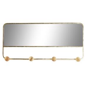 Espelho de parede DKD Home Decor Madeira Metal (40 x 4.5 x 18.5 cm)