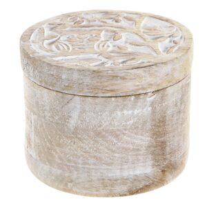 Guarda-Joias DKD Home Decor Índio Madeira de mangueira (10 x 10 x 8.5 cm)