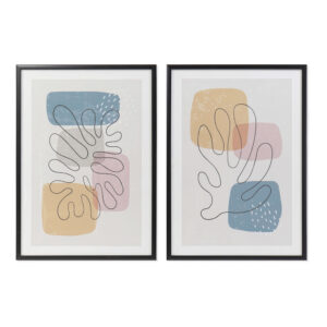 2 Pinturas DKD Home Decor PVC Abstrato Madeira MDF (44 x 3 x 63 cm)