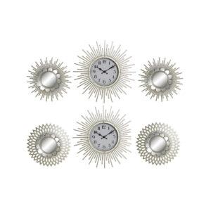 3 Relógios de Parede DKD Home Decor Cristal Polipropileno Dourado