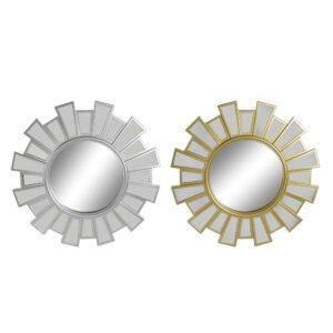 2 Espelhos de parede DKD Home Decor Polipropileno (PP) (58 x 2.5 x 58 cm)