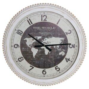 Relógio de Parede DKD Home Decor Cristal Ferro Mapa do Mundo (60 x 6 x 60 cm)