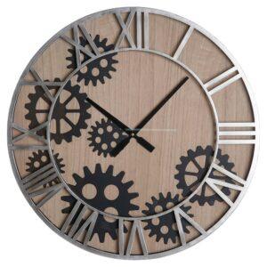 Relógio de Parede DKD Home Decor Engrenagens Cristal Ferro (60 x 6 x 60 cm)