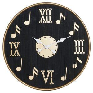 Relógio de Parede DKD Home Decor Musical Ferro Madeira MDF (60 x 4 x 60 cm)