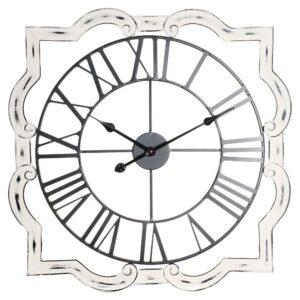 Relógio de Parede DKD Home Decor Tradicional Ferro Madeira MDF (70 x 5 x 70 cm)