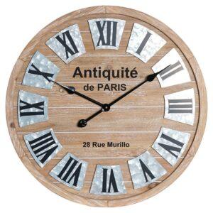 Relógio de Parede DKD Home Decor Vintage Ferro Madeira MDF (60 x 4.5 x 60 cm)
