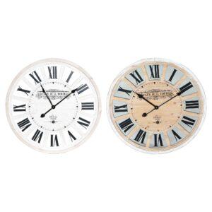 Relógio de Parede DKD Home Decor Vintage Madeira MDF (2 pcs) (60 x 4 x 60 cm)