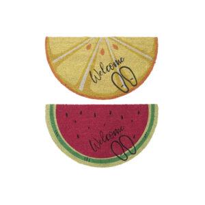 2 Tapetes DKD Home Decor Fruta Multicolor Fibra (90 x 50 x 1.5 cm)