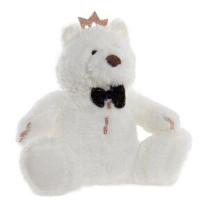 Peluche DKD Home Decor Branco Poliéster Urso (22 x 15 x 23 cm)